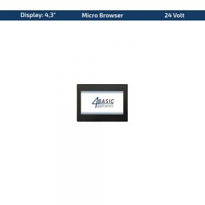 """4,3"""" Touch-Panel – Variante 24 VDC & Micro Browser"""