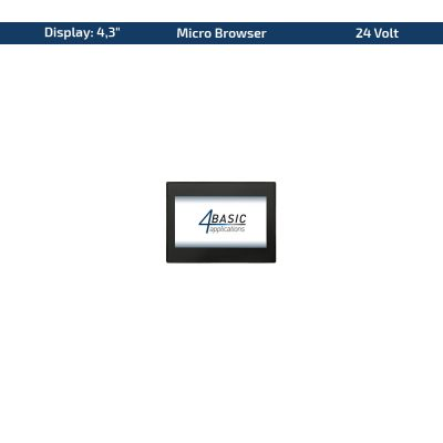 "4,3"" Touch-Panel – Variante 24 VDC & Micro Browser"