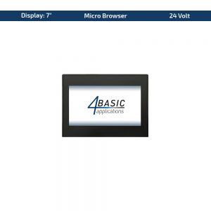 """7"""" Touch-Panel – Variante 24 VDC & Micro Browser"""