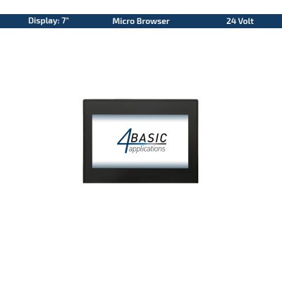 "7"" Touch-Panel – Variante 24 VDC & Micro Browser"